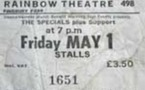 The Specials - Rainbow Theater -London - May 1981