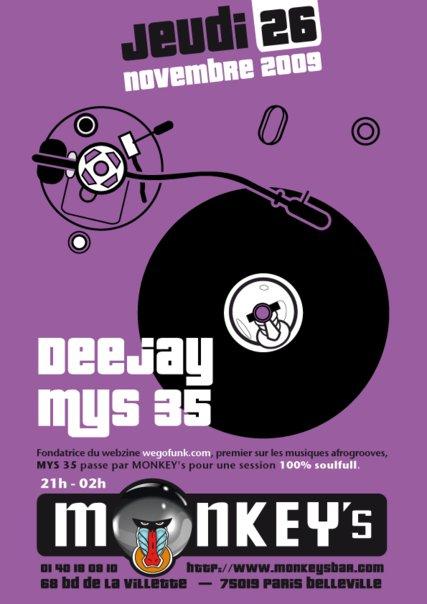 Dj Mys 35 @ Monkey's (Paris)