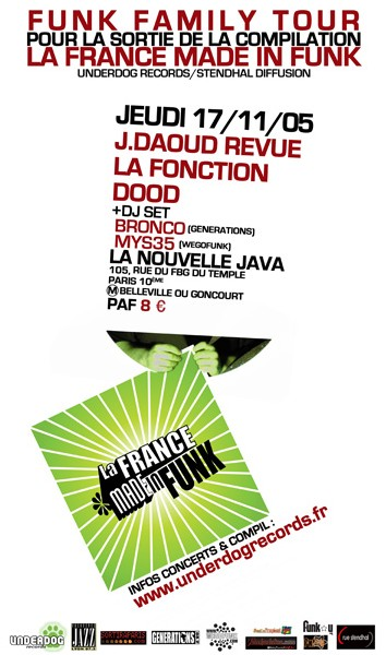 La france made in Funk - Release Party