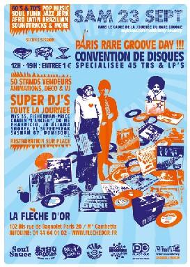 Paris Rare Groove day ( second édition ) - Sam 23 Septembre 2006