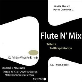 Flute'N'Mix : A Tribute To Blaxploitation SoundTracks ! Guest : Mys35