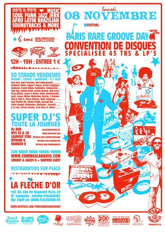 Paris Rare Groove Day #6 -  Samedi 8 Novembre 2008