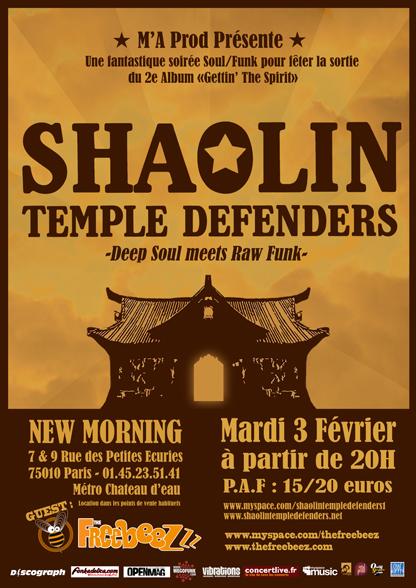 Tournée des Shaolin Temple Defenders