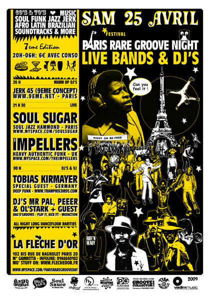 Paris Rare Groove Day #7 -  Samedi 25 Avril 2009