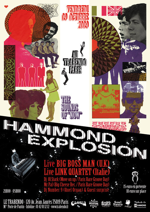 Soirée Hammond Explosion à Paris ! Big Boss Mann & Link Quartet + Dj's - 9 octobre 2009