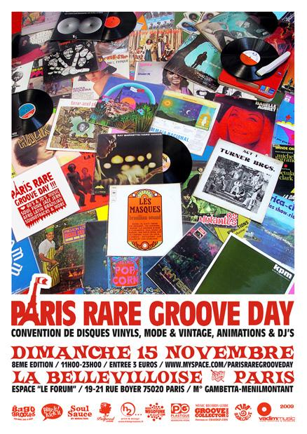 Paris Rare Groove Day #8 - Dimanche 15 Novembre à Paris