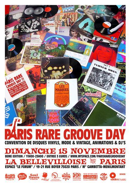 Paris Rare Groove Day #8 - Dimanche 15 Novembre à Paris