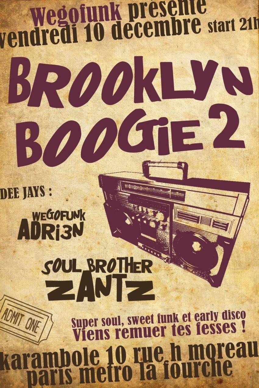 Brooklyn Boogie #2, une nuit dédiée à la old school from NY, vendredi 10 décembre à Paris