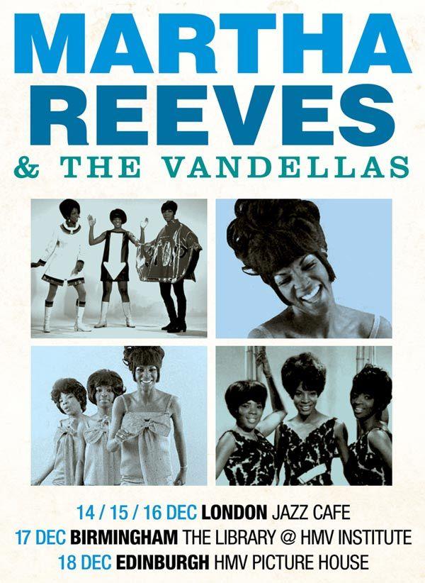 Tournée pour Martha Reeves and the Vandellas
