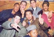 1991: Izo, Crazy B, Cut Killer, Big Red, Faster Jay, Jean-Manuel(Dj Juan) et Doc Phil, championnat de France DMC au Palace (Paris)_Source : DJ mix, Septembre 2001
