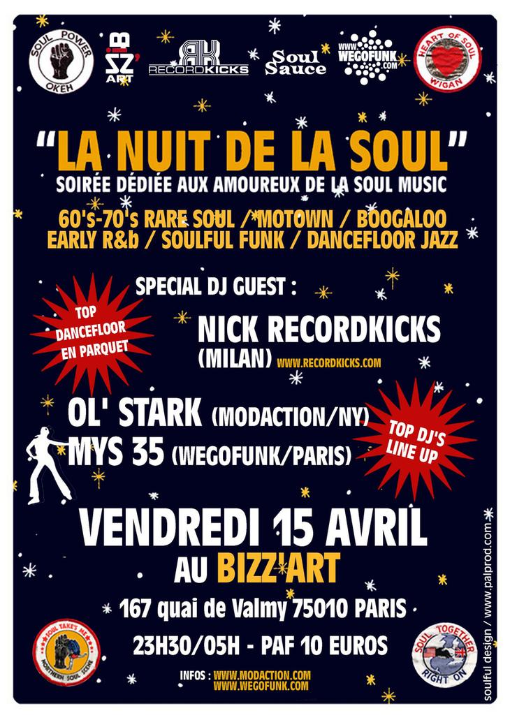 Modaction et Wegofunk présentent la soirée La Nuit de la Soul #4 le 15 avril 2011