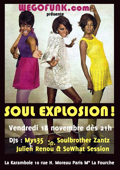 Soirée Soul Explosion avec Wegofunk à La Karambole, dans le cadre des Nuits Capitales, le 18 novembre