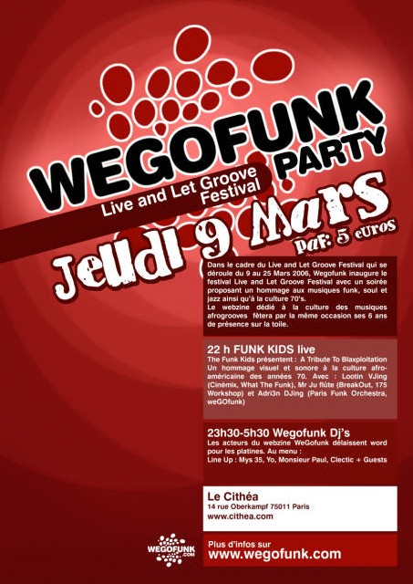 WEGOFUNK PARTY Jeudi 9 Mars 2006