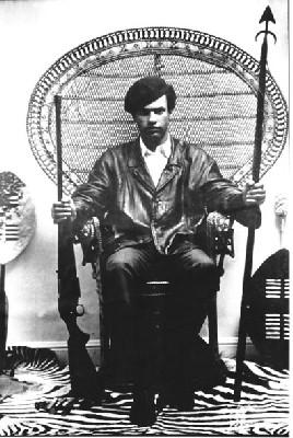 Huey P. Newton, fondateur des Black Panthers