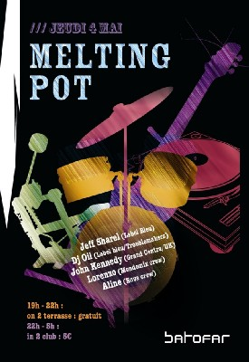Melting Pot - Jeudi 4 mai Apéro en Terrasse + Club - Batofar (Paris)