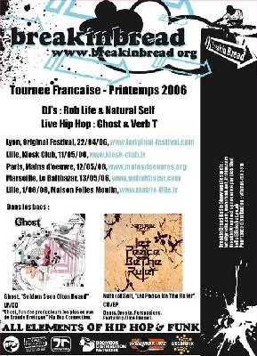 Tournée du label anglais Breakin Bread en France