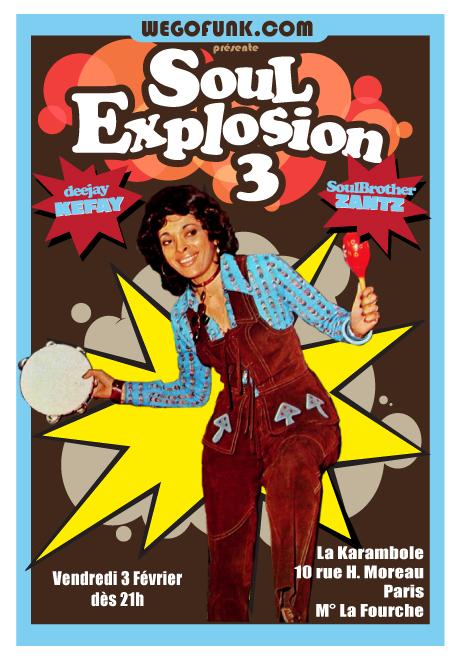 Soirée Soul Explosion #3  à La Karambole, le 3 Février 2012