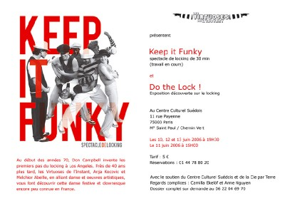 Keep it Funky - Specatcle de locking