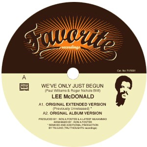 Lee Mc Donald - We've Only Just Begun