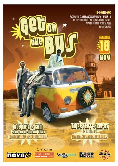 Get on the Bus / samedi 18 novembre / Batofar (Soirée Partenaire)