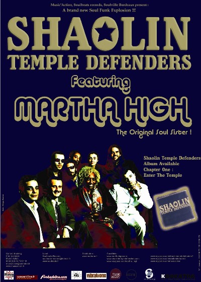 Tournée de Martha High avec les Shaolin Temple Defenders en Mars/Avril 2007