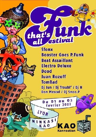 Festival That's All Funk à Lyon - Du 1er au 3 Février 2007