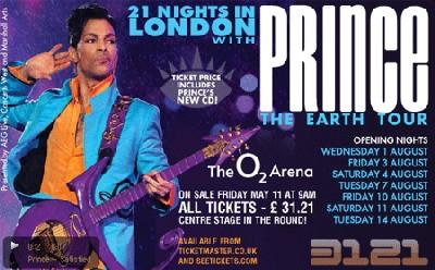 Prince en Europe au mois d'août