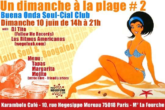 Dimanche 10 juin à la Plage : Let's Boogaloo! :: Brunch musical au Karambole Café