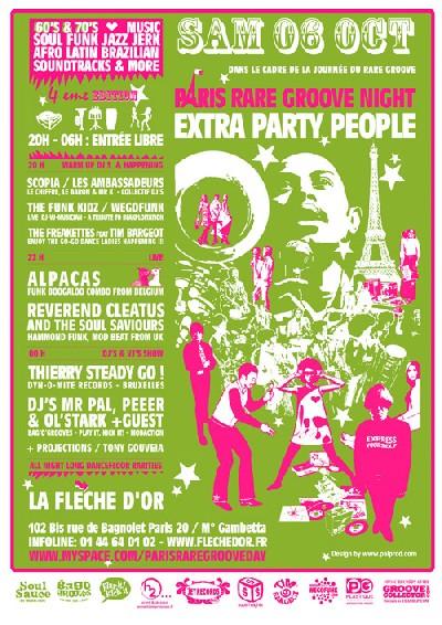 Paris Rare Groove Day # 4 - Samedi 6 Octobre 2007