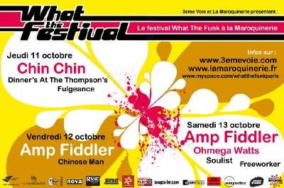 Wegofunk partenaire du : What The festival du 11 au 13 Octobre à La Maroquinerie (Paris)