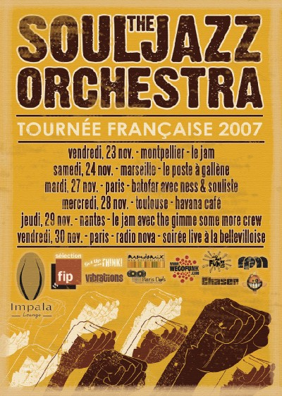 Tournée de The Souljazz Orchestra