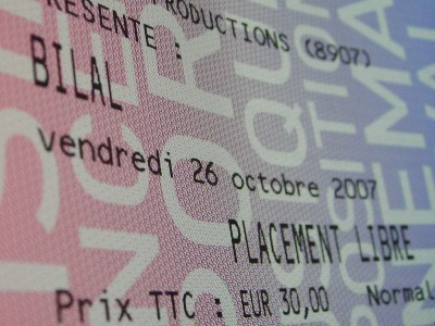 Bilal à Elysée Montmatre, le 26 octobre 2007