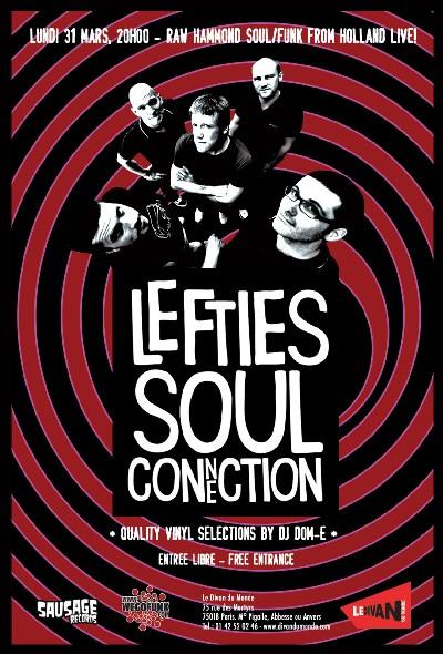 Les Lefties Soul Connection en concert GRATUIT le 31 Mars 2008 au Divan du Monde (Paris)