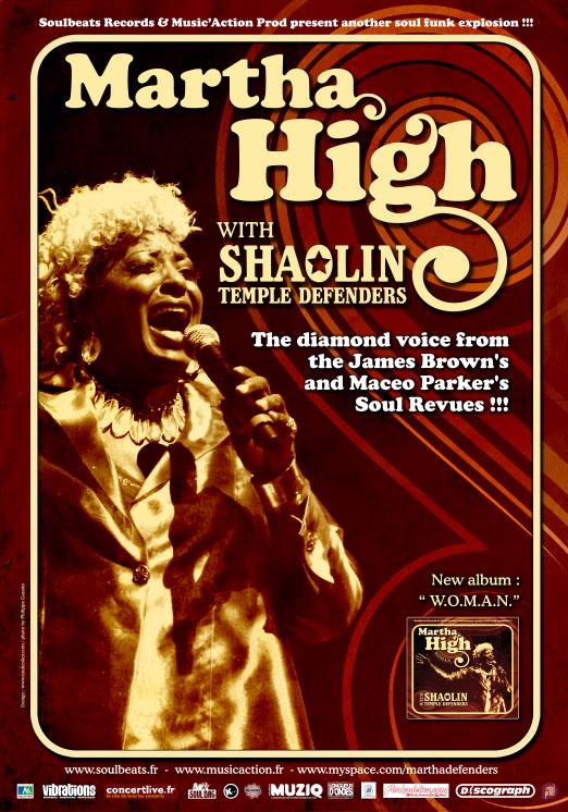 Tournée des Shaolin Temple Defenders avec Martha High
