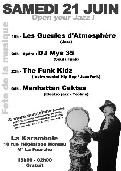The Funk Kidz (live) & Mys35 (DJ) fêtent la musique à Paris 18ème