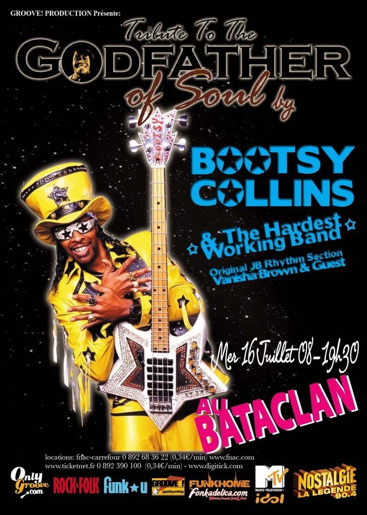 Bootsy Collins ramène des anciens JB's avec lui en tournée en Europe cet été