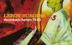 Un album solo pour Leroy Burgess