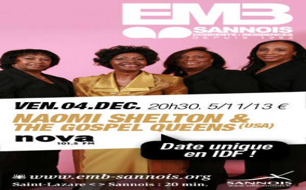 Concert de Naomi Shelton le à l'EMB (Sannois) - 4 décembre 2009