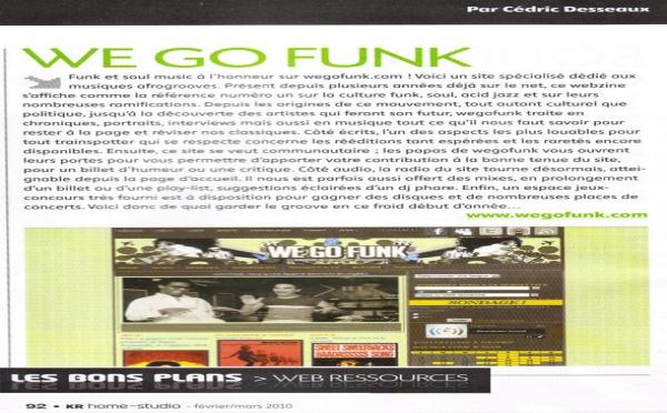 Wegofunk dans le magazine Keyboards Recording