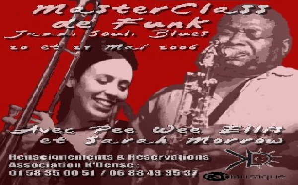 Masterclasse avec PeeWee Ellis & Sarah Morrow les 20 & 21 Mai à Paris